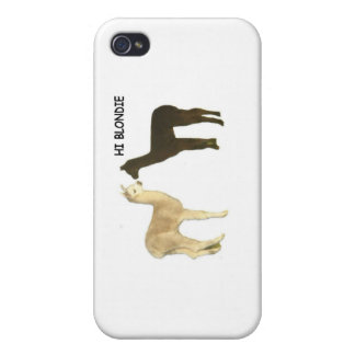 Two alpacas meet cover for iPhone 4