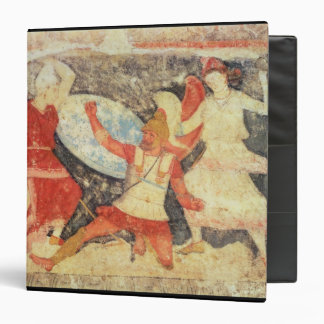 Two Amazons in combat with a Greek Binder