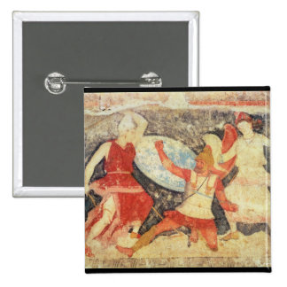 Two Amazons in combat with a Greek Button