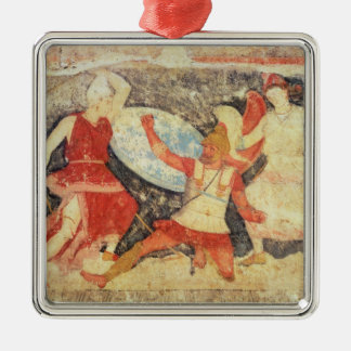 Two Amazons in combat with a Greek Metal Ornament