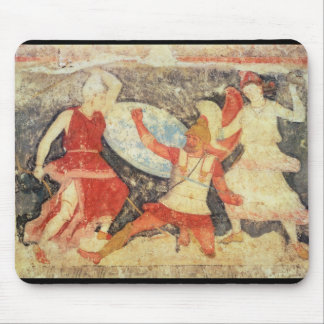 Two Amazons in combat with a Greek Mouse Pad