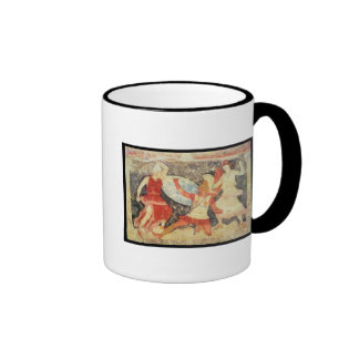 Two Amazons in combat with a Greek Ringer Mug