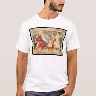 Two Amazons in combat with a Greek T-Shirt