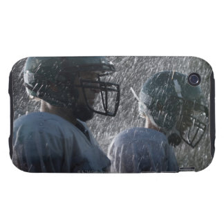 Two American football players in rain, side view iPhone 3 Tough Cases