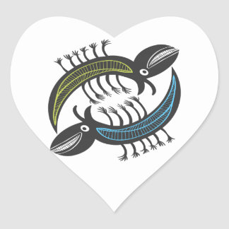 Two Amusing fantasy beastys Heart Sticker