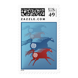 Two Ancient Horses Postage