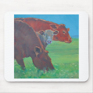 Two and a half cows mouse pad