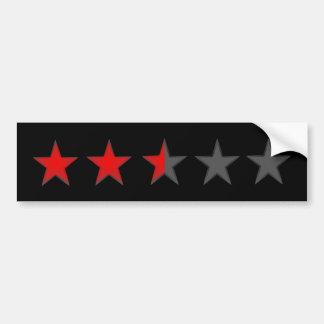 Two and a half stars Bumper Sticker black Car Bumper Sticker