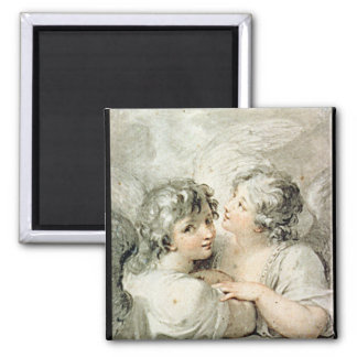 Two angels, 18th century magnet
