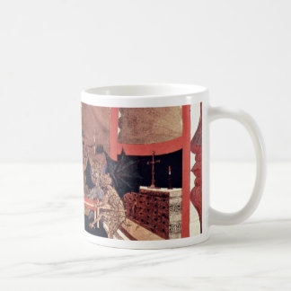 Two Angels And Two Devils Argue Before An Altar To Coffee Mug