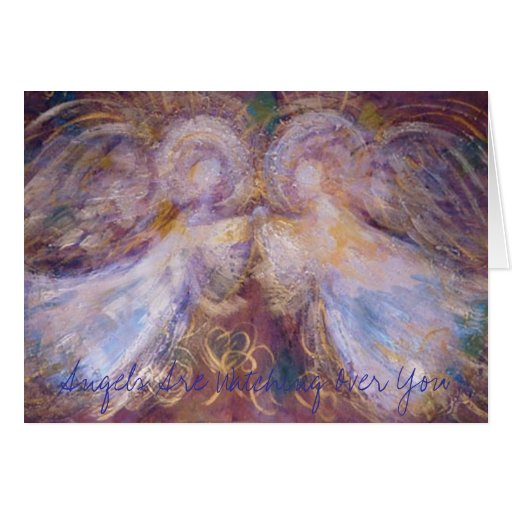 Two Angels, Angels Are Watching Over You Greeting Cards