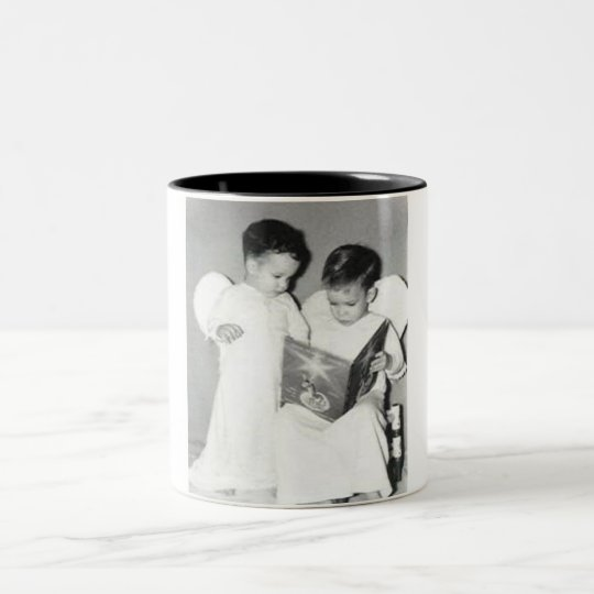 Two angels for Chrstmas mug