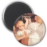 Two Angels, Guido Reni Christian Baroque Fine Art Refrigerator Magnet