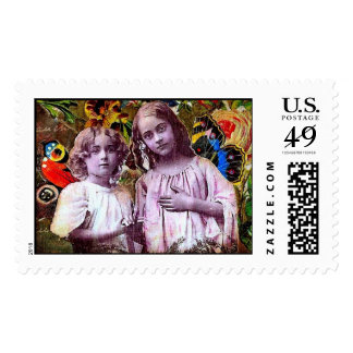 two angels stamps