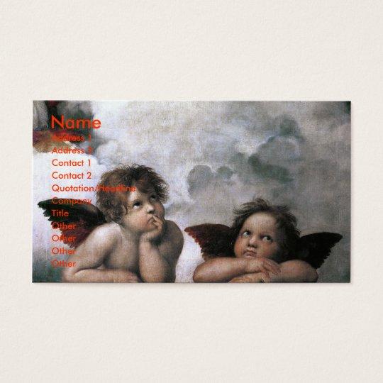 Two Angels, Raphael Vintage Fine Art Business Card