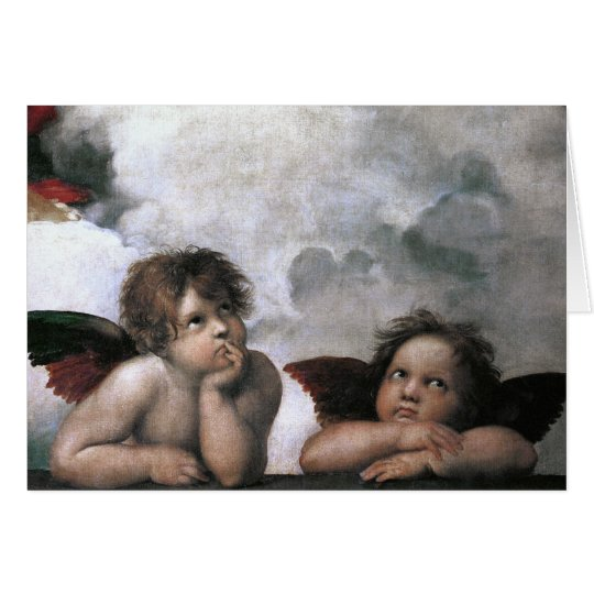 Two Angels, Raphael Vintage Fine Art Card
