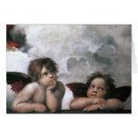 Two Angels, Raphael Vintage Fine Art Cards