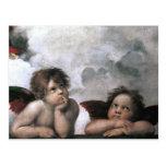 Two Angels, Raphael Vintage Fine Art Post Cards