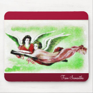 Two anges flying mousepads