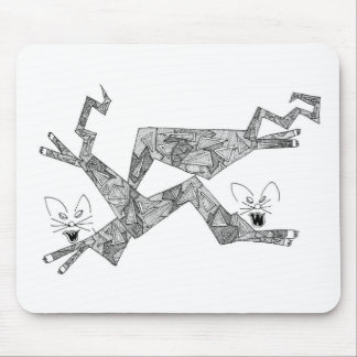 two angle cats mouse pad