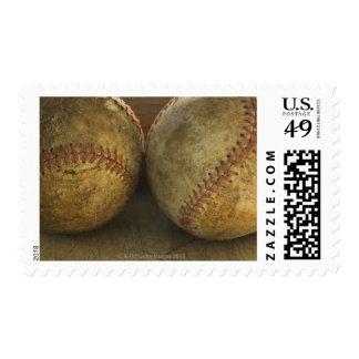 Two antique baseballs postage stamp