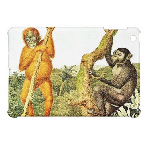 Two Apes Vintage Art iPad Mini Cover