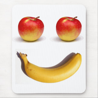 Two Apples and One Banana Mousepads