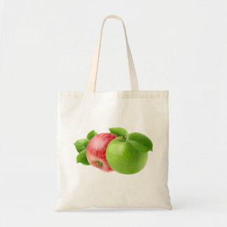 Two apples tote bag