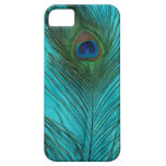 Two Aqua Peacock Feathers iPhone 5 Covers