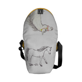 Two arabian horses Messenger Bag