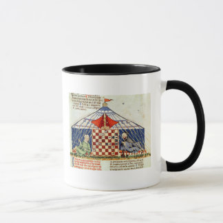 Two arabs playing chess in a tent mug