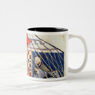 Two arabs playing chess in a tent Two-Tone coffee mug
