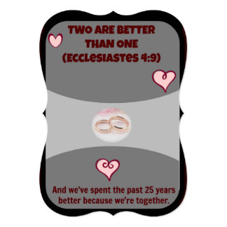 Two Are Better Than One Anniversary Party Invites