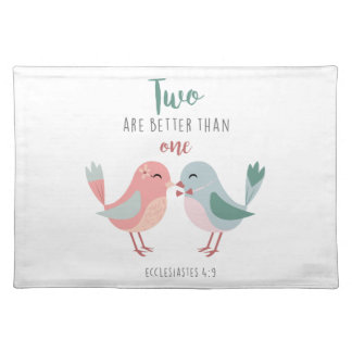 two are better than one christian bible verse cloth placemat