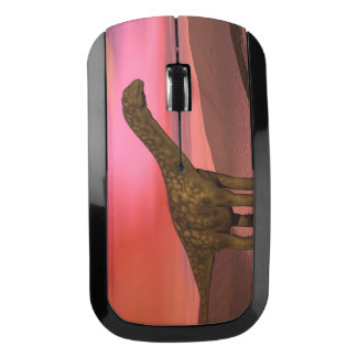 Two argentinosaurus dinosaurs wireless mouse