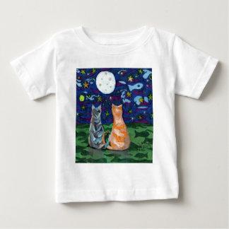 Two Art Cat Dreams Baby T-Shirt