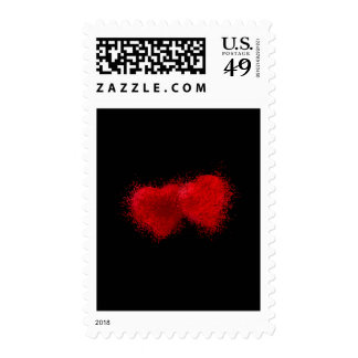 TWO AS ONE (particle hearts comming together) ~.jp Postage
