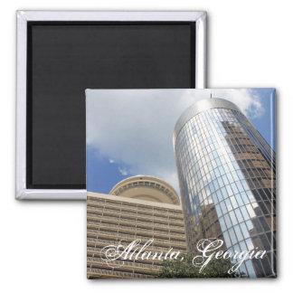 Two Atlanta High Rises 2 Inch Square Magnet