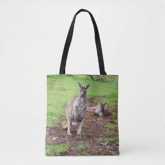 Two Aussie Kangaroos, Full Print Shopping Bag