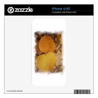 Two autumn leaves skin for the iPhone 4