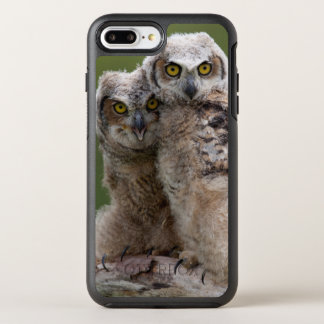 Two Baby Great Horned Owls Perching On A Branch OtterBox Symmetry iPhone 7 Plus Case