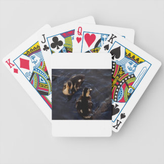 Two Baby Mallard Ducks Bicycle Playing Cards