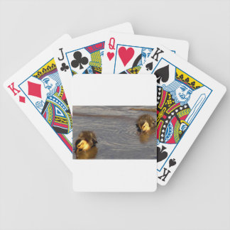 Two Baby Mallards Bicycle Playing Cards