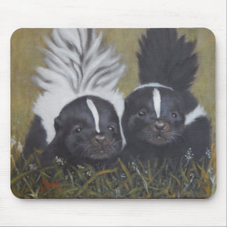Two Baby Skunks Mouse Pad