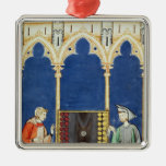 Two Backgammon Players Ornaments