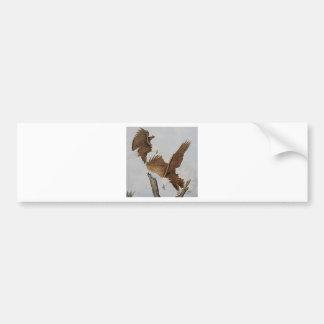 Two Bald Eagles in Flight Bumper Sticker