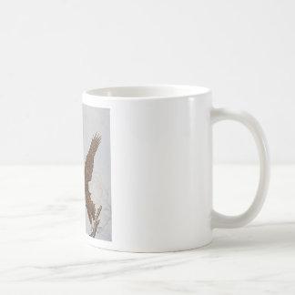 Two Bald Eagles in Flight Coffee Mug