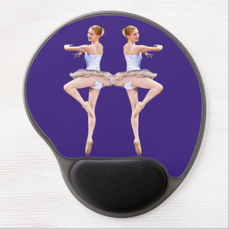 Two Ballerinas in Purple and White  Customizable Gel Mouse Pad