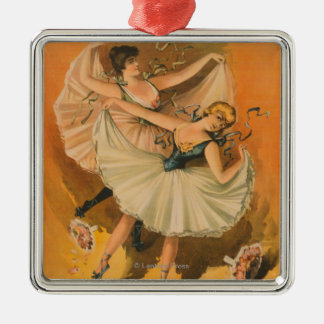Two Ballerinas Theatrical Poster Metal Ornament
