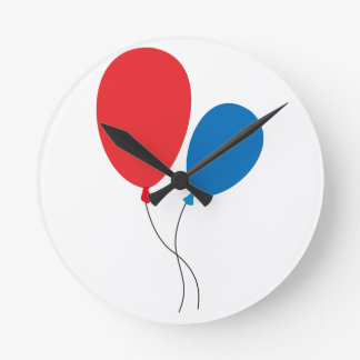 Two Ballons Round Clock